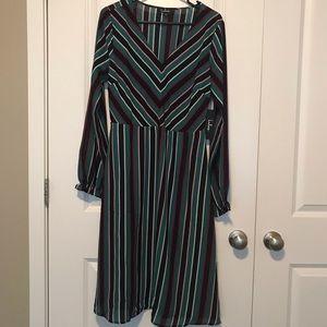 Lulus Striped Midi Dress